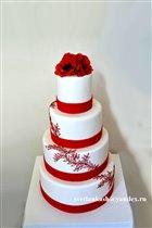 Торт Свадебный с маками