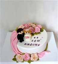 Торт Розы молодожёнам