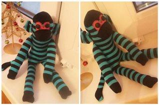 Игрушка обезьяна. Цена 100р