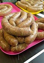 Колбаски из говядины и свинины (не жирные)