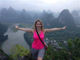 Китай. Вид на реку Ли