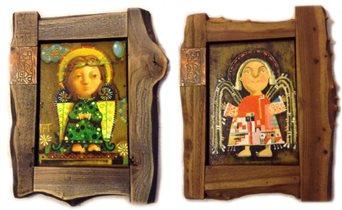 Ангелы в раме карагач