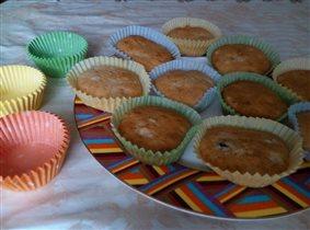Весенние кексы в осенний день :)