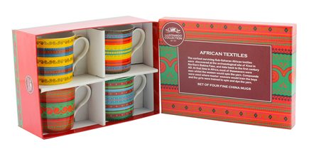 1435+% Набор кружек Африканский текстиль 4*200 м