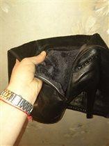 Женские зимние кожаные сапоги 39 размер