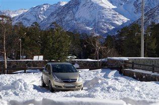 первый снег в приэльбрусье