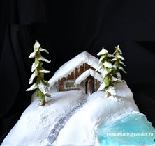 Торт Пряничный домик у пруда
