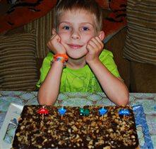 Шоколадный торт от мамы к 5-летию Тимошки!