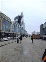 Перспектива пешеходной части Петербургской улицы