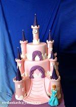 Торт Замок с принцессой