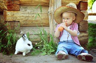 витамины с грядки и детки в порядке:)