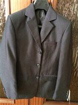 пиджак черный в рубчик