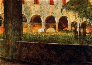 Umberto Boccioni - Cloister of S. Onofrio, 1904