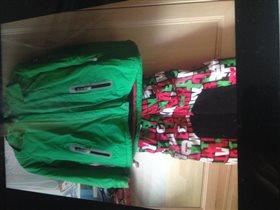 Комплект б/у для девочки, куртка 146, брюки 140