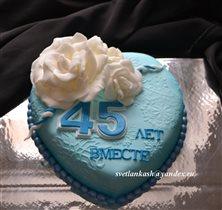Торт Голубое сердце