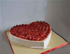 Торт Клубничное сердце
