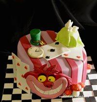 Торт Чеширский кот из Алисы в зазеркалье
