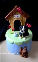 Торт Кот и пёс