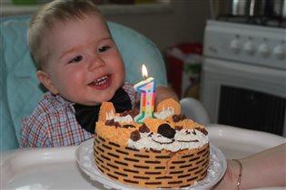 Первый тортик!