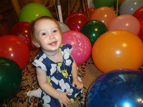 Шариковое день рождение! Катюше 1 год.