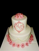 Свадебный торт с вензелем