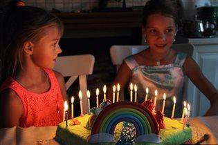 Лучшие подруги отмечают свое 9-летие вместе
