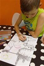 Юный художник-архитектор...