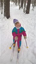 А вы уже катались па лыжах?