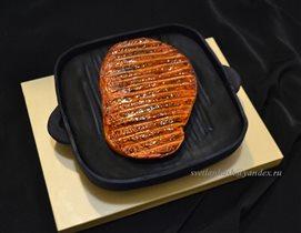 Торт Стейк на сковородке