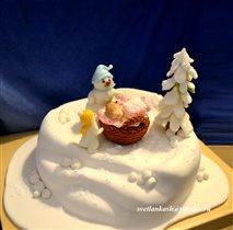 Торт Новогодняя новорожденная