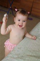 Самая первая причёска дочурки Алисы!