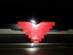 сердце из ЛЕГО-подарок сына на НГ