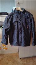 Куртка Альпекс весенняя на флисе 152 р. б\у