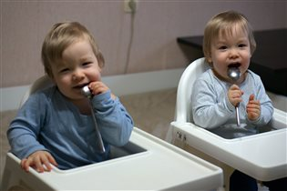 Саша и Вадик. 1 год и 9 месяцев