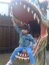 Алиюша.Динозавров не боюсь,даже в пасте улыбнусь.