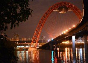 Живописный мост вечером