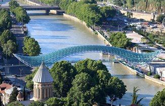 Мост мира. Тбилиси.