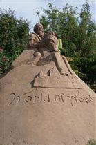 Скульптура из песка в Турции