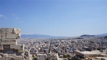 Вид на Афины с Высоты Акрополя.