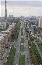 Вид на ул Ак. Королева . Фото сделано из аэролифта