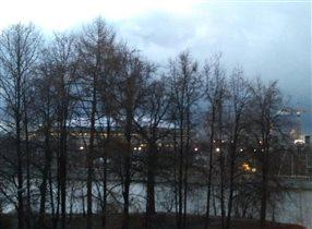 'Блиц: с высоты' вид на Лужники с Воробьевых гор.
