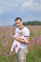 В цветущем поле...