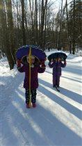 Зимние забавы в лесу