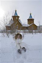 когда снег в удовольствие!))