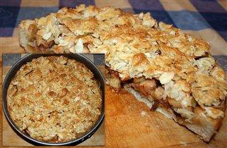 Яблочный пирог с миндальной глазурью