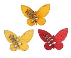 Фигурка деревянная, бабочка, с выточенным рисунком