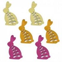 Фигурка деревянная, кролик, с выточенным рис., 5,5