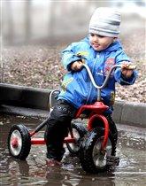 Велосипед, лужи, грязь - удовольствие.