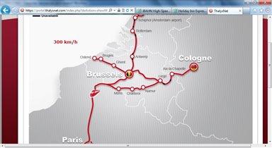 Thalys, Брюссель-Париж и обратно