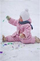 Художественная гимнастика на снегу...